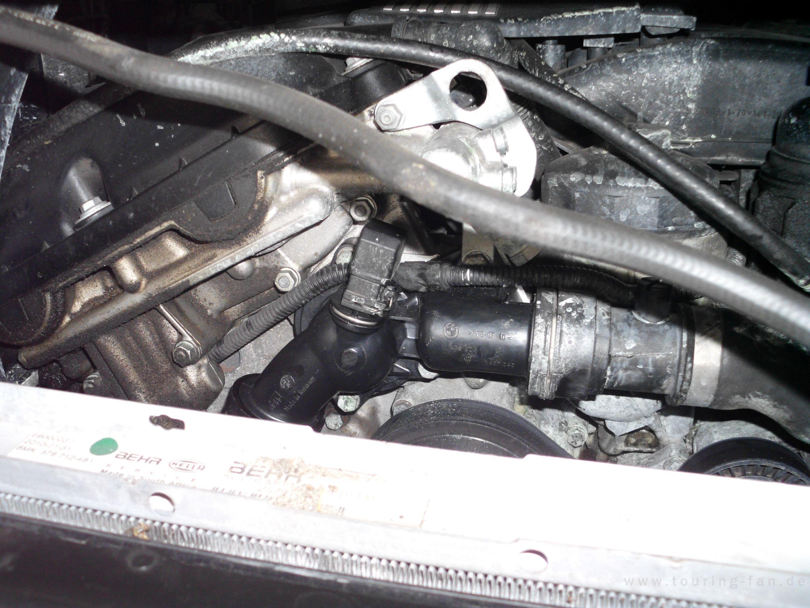 EBA Wasserpumpe und Thermostat tauschen beim M54 Motor! - Antrieb ...