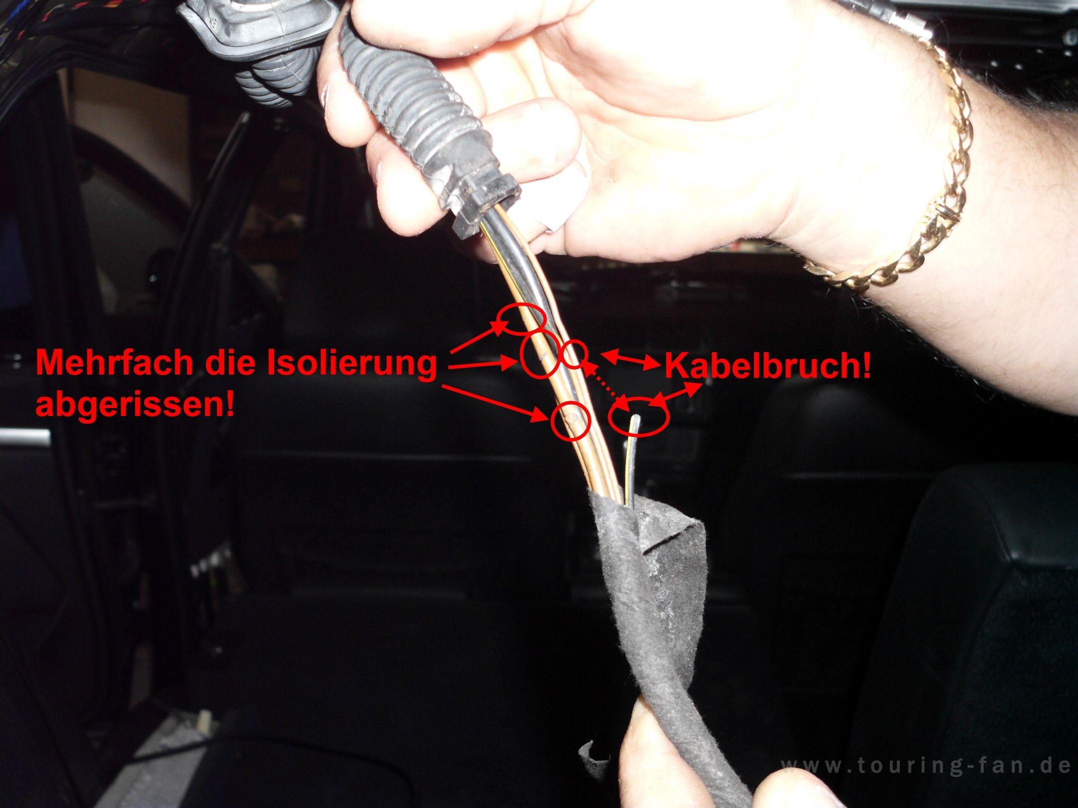 E39 Touring Kabelbruch Heckklappe Elektrik E39 Forum
